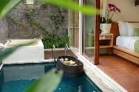 awesome pool access from the bedroom of Bali - Legian Ini Vie Villa 1BR luxury apartment