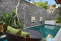 adorable hanging chair at the poolside of Bali - Legian Ini Vie Villa 1BR luxury apartment