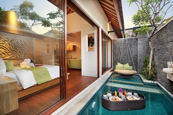 rejuvenating pool at Bali - Legian Ini Vie Villa 1BR luxury apartment