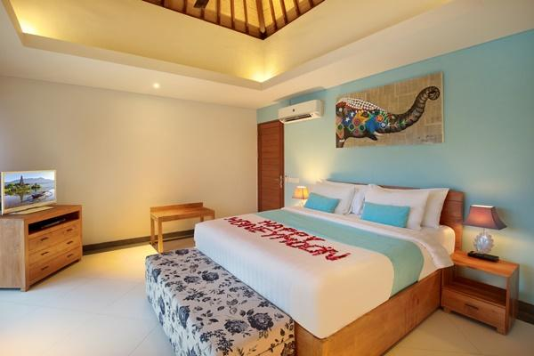 clean and fresh bedroom linens in Bali - Lacasa Villa 2BR luxury apartment