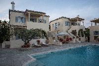 cool swimming pool of Greece Spetses Villa Nika luxury holiday home, vacation rental