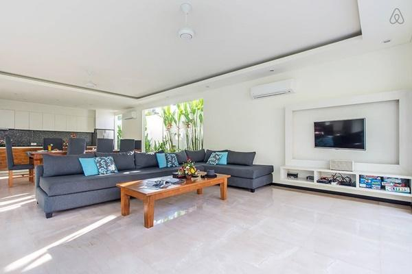 cool living room of Bali - Aquila Villa Seminyak luxury apartment