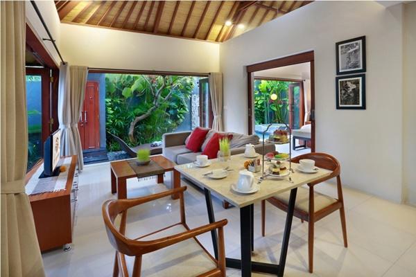 fully furnished Bali - Legian Kriyamaha Villa 4 luxury apartment