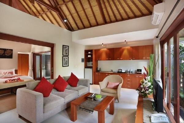 awesome ceiling of Bali - Legian Kriyamaha Villa 7 luxury apartment