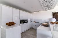 cool modern kitchen of Corsica - Figarella luxury apartment
