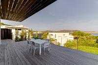 awesome deck with a view at Corsica - Figarella luxury apartment
