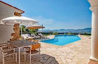 marvelous pool area of Cannes Villa Panoramique luxury apartment