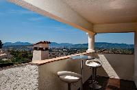 splendid view from the terrace of Cannes Villa Panoramique luxury apartment