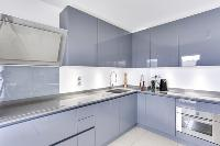 dapper kitchen of Cannes Apartment Isola Bella luxury apartment