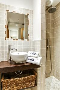 neat and trim lavatory of Cannes Apartment Le Loft luxury home