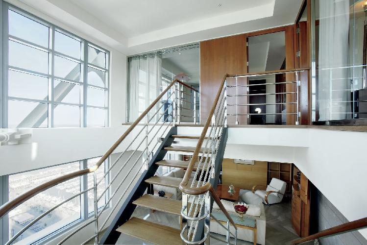 cool mezzanine of Arts Barcelona 2 Bedroom Penthouse luxury apartment