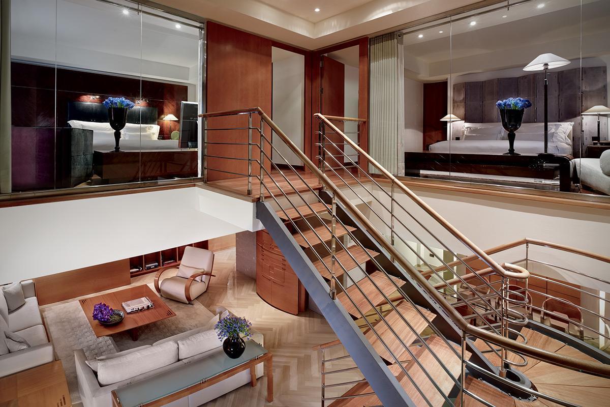 cool multilevel Arts Barcelona 3 Bedroom Penthouse luxury apartment