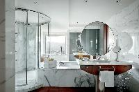 elegant bathroom in Barcelona - The Arts Penthouse luxury apartment