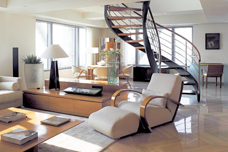 fabulous multilevel Barcelona - The Arts Penthouse luxury apartment