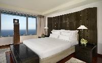 crisp and clean bedroom linens in Arts Barcelona - The Royal Penthouse luxury apartment