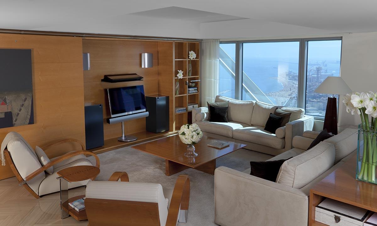 chic and charming Arts Barcelona - The Presidential Penthouse luxury apartment