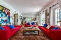 fabulous living room of Cannes Villa Boulevard des Collines luxury apartment