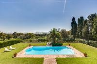 beautiful pool area and garden of Cannes Villa Boulevard des Collines luxury apartment
