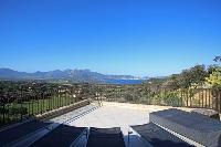 amazing view from the terrace of Corsica - Villa Daria luxury apartment