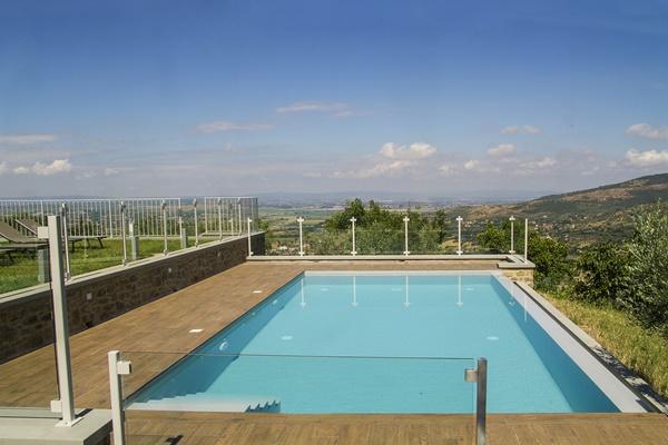 sparkling pool of Tuscany - Villa Fonte al Vento luxury apartment