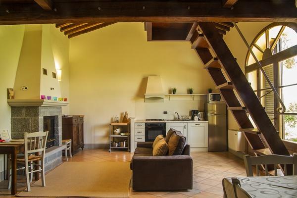 adorable living room of Tuscany - Fonte al Vento Orangery luxury apartment