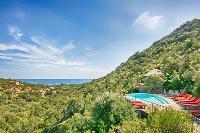 splendid poolside area of Corsica - Villa Dominique luxury apartment
