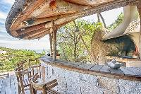 cool outdoor bar at Corsica - Villa Dominique luxury apartment