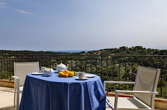 breathtaking view from Cannes Villa Les Orangers luxury apartment