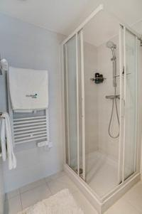 cool shower area in Cannes Charming Apartment Coté Sud luxury home
